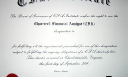 他们说的CFA……
